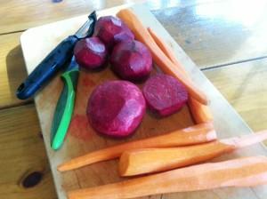 peel carrots & beets